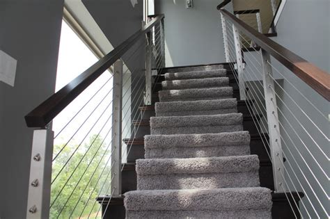 Stair Supplies Cable Rail Contemporary Staircase Chicago By Stair