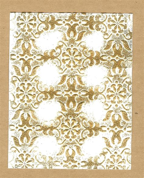 wallpaper gold embossed what you can do with a stin up embossing folder some
