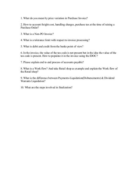Accounts receivable interview questions and answers pdf