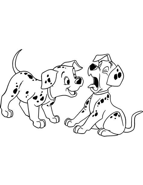 coloring pages of two dogs dibujos de 101 dalmatas para colorear pintar e imprimir