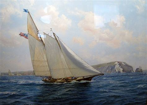 boat sinking fairfield ct roy cross yacht america off the needles august 1851 j
