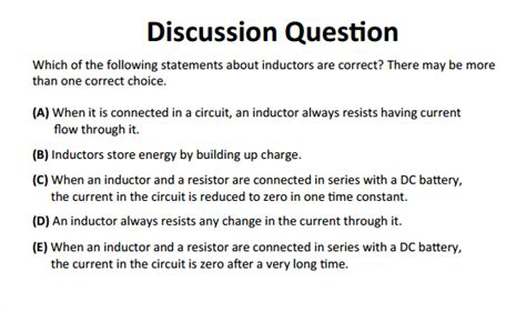 inductor test questions inductors choice questions 28 images ap physics resources ap physics c choice practice