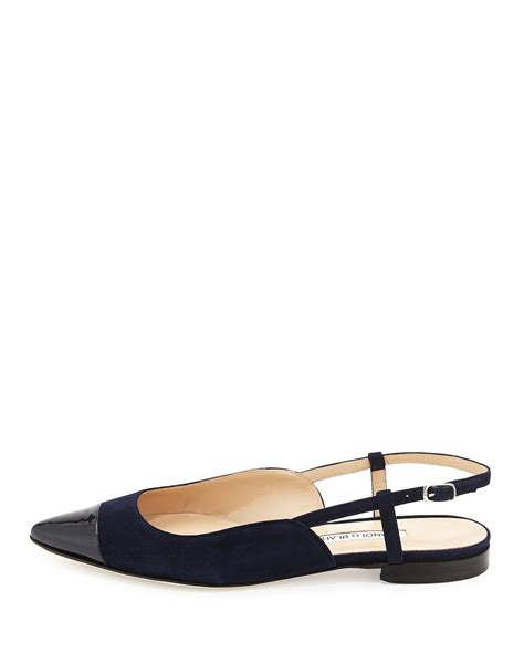 Point Toe Slingback Pumps Brown 37 manolo blahnik prizzi suede cap toe slingback flat navy ny