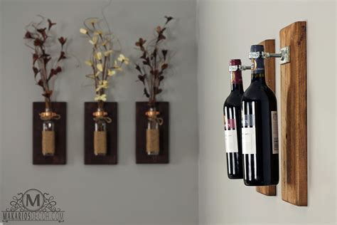Wine Decorations For The Home Wall Designs Wine Wall Wine Bottle Sconce Wine Rack Wine Decor Unique Wine Racks