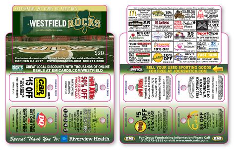 Westfields Gift Card Where Can You Use It - westfield athletics fundraising card