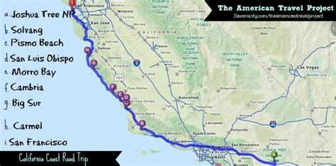 Pch Road Trip Map - california road trip map afputra com