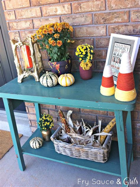 fall decorating on a budget a festive fall front porch on a budget fry sauce and grits