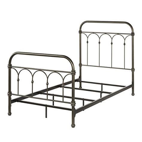 Vintage Metal Bed Frame Antique Rustic Dark Bronze Cast Vintage Style Bed Frame