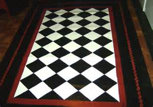 Black And White Outdoor Rug Floorcloth Black And White Pattern Painted Rug