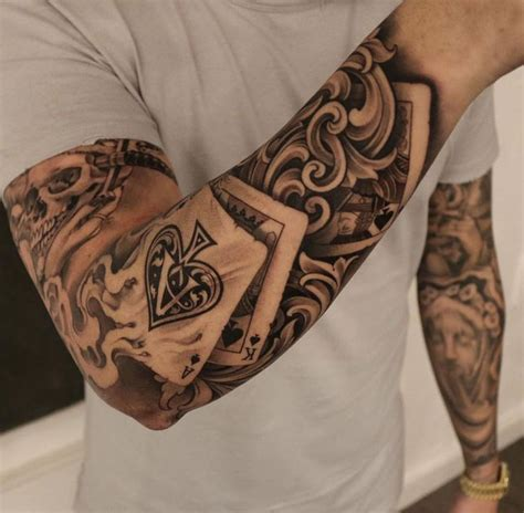 deck of cards tattoo 228 best images on mens tattoos tattoos for