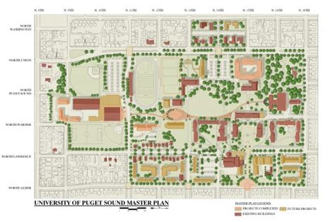How To Draft A Floor Plan campus master plan 183 university of puget sound