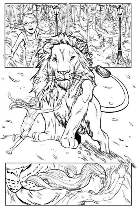 narnia lion coloring page chronicles of narnia lucy love aslan coloring page free