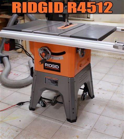 Ridgid Table Saw R4512 by Ridgid R4512 Jays Custom Creations Shop Tools