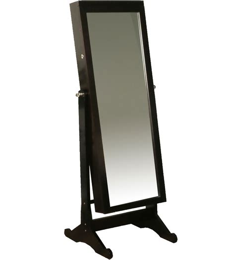 standing jewelry armoire with mirror standing mirror jewelry armoire in jewelry armoires