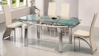 Glass Dining Room Tables And Chairs by Delta Extending Glass Dining Table Amp 6 Chairs Glass