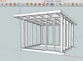 easy three sided shed on skids plans step by step shed