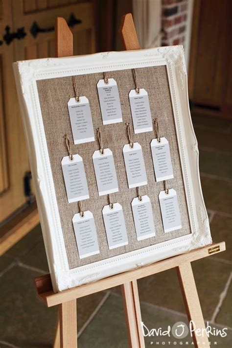 Wedding Table Plan Ideas Table Plan Idea Buy A Frame Take Out The Glass And Add Hessian And Voila Wedding Stuff