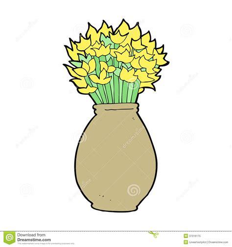 Flower Vase Clip Art Cartoon Vase Of Flowers Stock Vector Image Of Rough