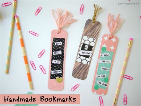 Handmade Bookmarks Ideas - diy bookmarks for your bookworms