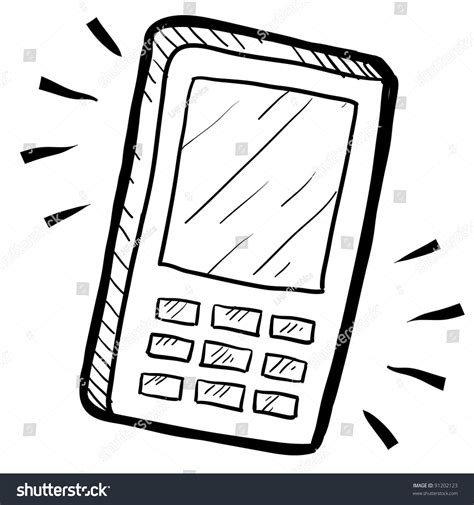 phone doodle free vector doodle style mobile phone calculator illustration stock