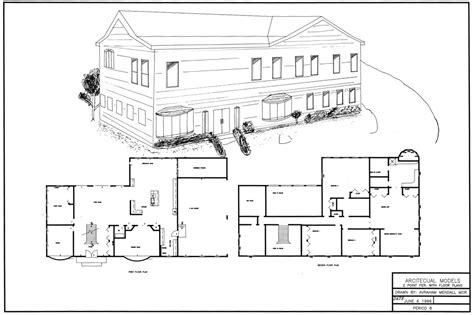 autocad design of house autocad