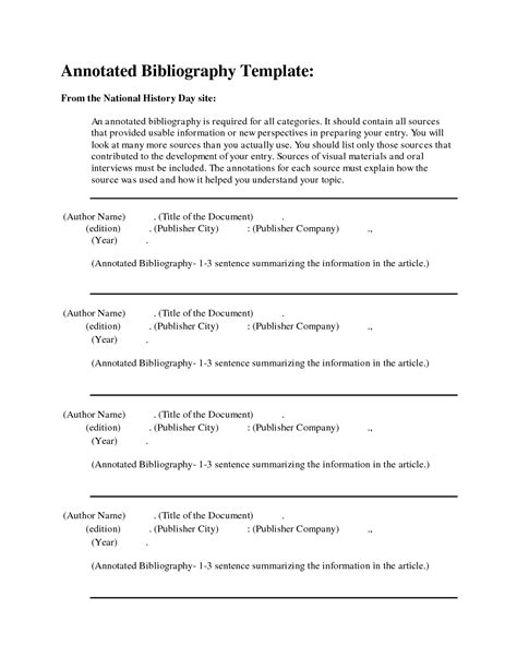 Annotated Bibliography Template Lisamaurodesign Free Bibliography Template