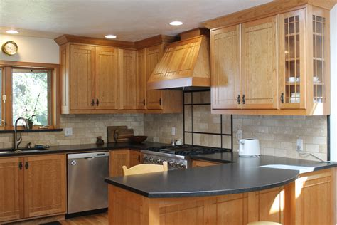 U Shaped Brown Wooden Kitchen Cabinets With Black Black And Brown Kitchen Cabinets