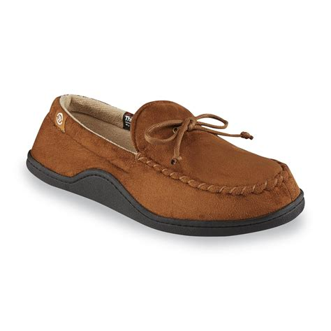 slipper tool isotoner s cognac moccasin slipper shop your way