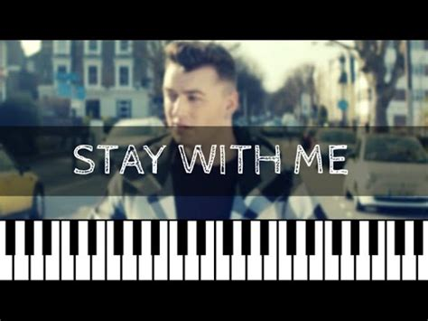 tutorial keyboard stay with me sam smith stay with me piano tutorial nederlands youtube