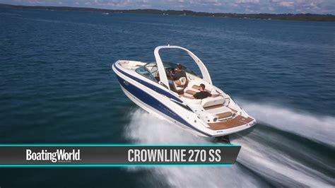 crownline boat test crownline 270 ss boat test youtube
