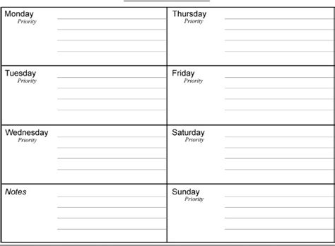 printable daily calendar template planner calendar template planner template free