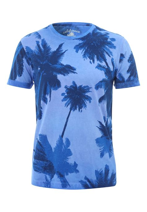 Tshirt Printing Small Palm mens palm tree print t shirt peacocks