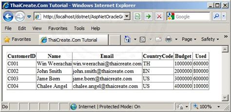 tutorial asp net oracle c asp net oracle and gridview datasource