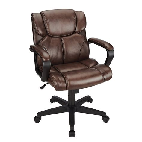 Photo Studio Chair by Brenton Studio Briessa Mid Back Vinyl Chair Brown Black
