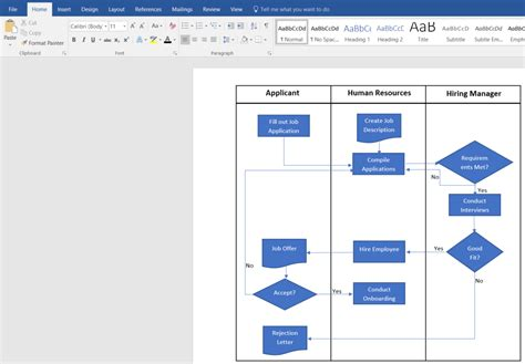 microsoft word flowchart template pro thai tk