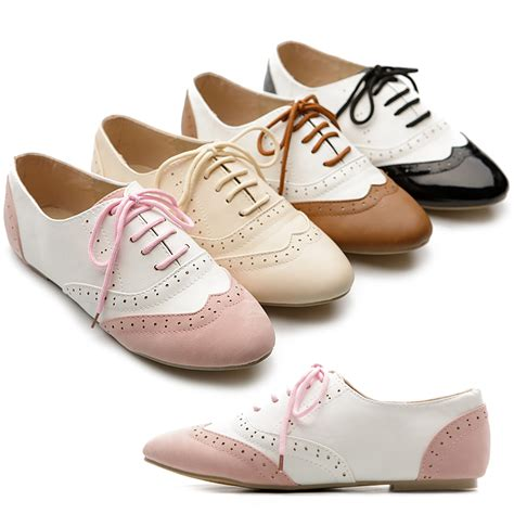 oxfords shoes for s classic dress oxfords low flats heels lace up