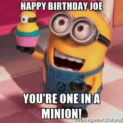 Minions Birthday Meme - minion happy birthday meme