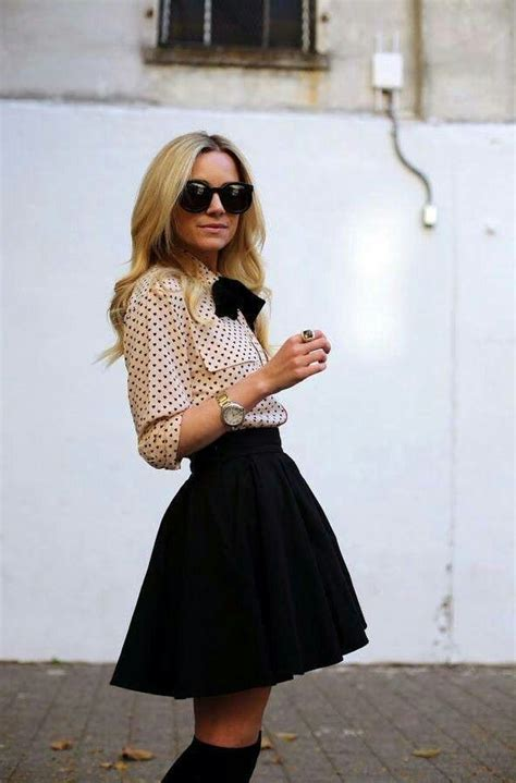 Black And White Line Skirt how to wear a black skirt 2019 fashiontasty