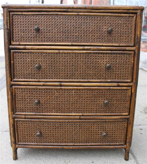 Rattan Dressers by Style Rattan Chest Of Drawers Dresser At 1stdibs
