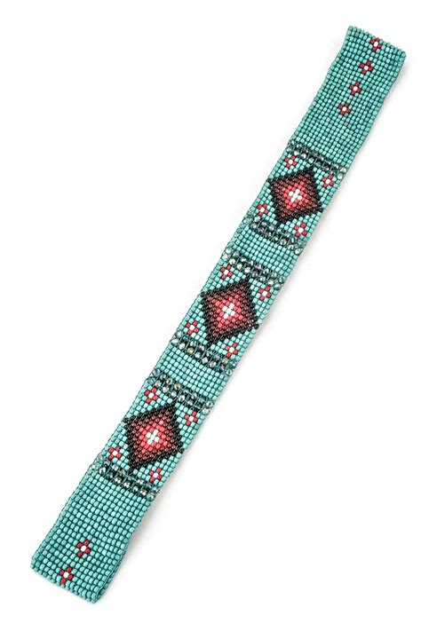beaded headband patterns pattern seed bead headband hair accessories