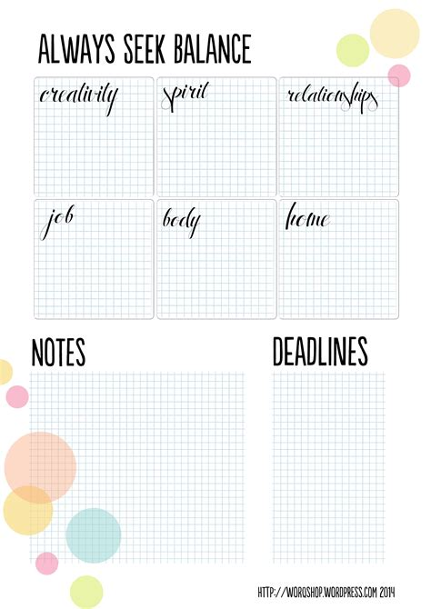 free printable goal planner planning