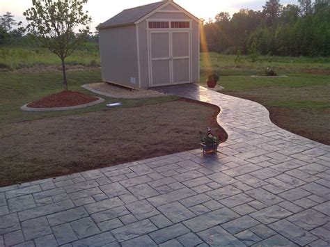 Concrete Patio Nc by Sted Concrete Patio And Walkway Outdoor Lifestyles