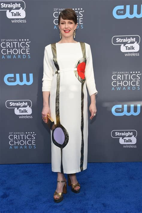 Critics Choice Awards Snow by Carrie Coon 2018 Critics Choice Awards