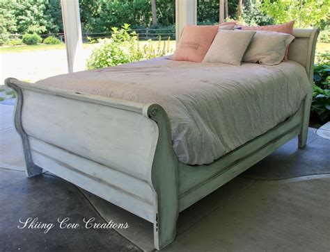 White Wooden Sleigh Bed Best 20 Sleigh Bed Painted Ideas On Pinterest