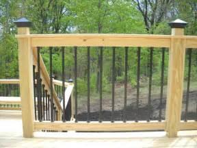 Outdoor Deck Spindles Pressure Treated Wood Deck Railing See Plenty Deck Railing