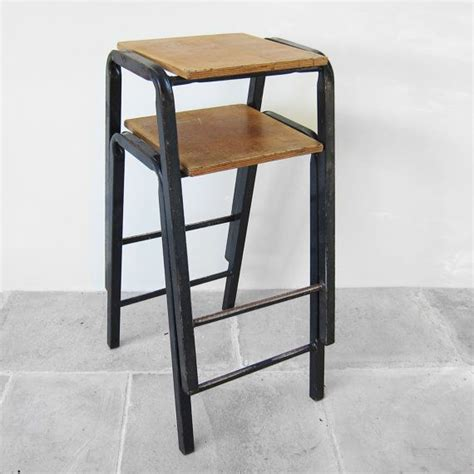 stacking breakfast bar stools 1950s vintage school science lab stools