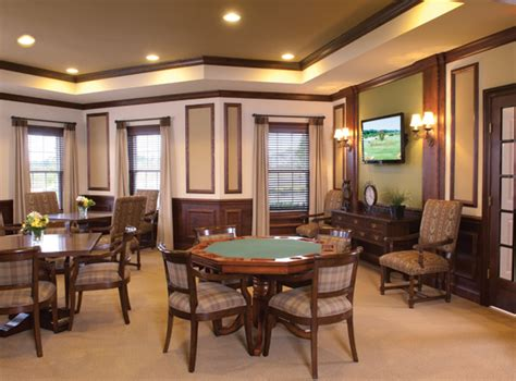 Card Room by Meadowbrook Pointe Links Hoa Clubhouse