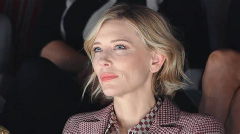 And Cate Blanchett At The Armani Fashion Show by Cate Blanchett At The Giorgio Armani Summer 2018