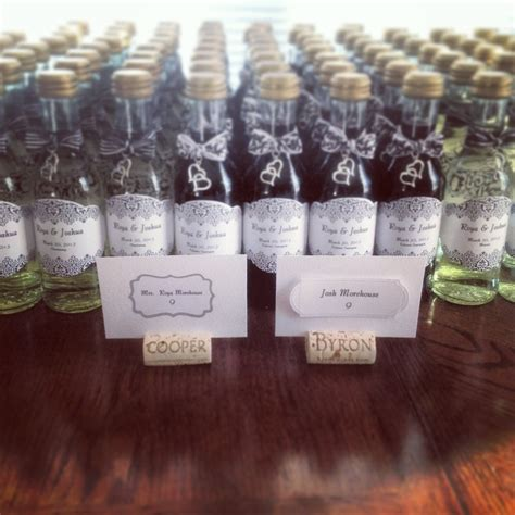 mini wine bottles for wedding favors rehearsal dinner