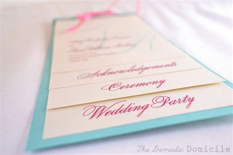 Diy Wedding Revisited Program Templates The Domestic Domicile Diy Wedding Program Template